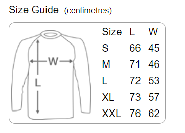 Danger Muff Baseball T-Shirt Size Guide